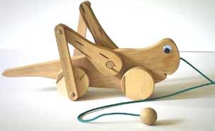 Wooden Toy Grasshopper
